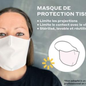 masques tissu polyester reutilisable