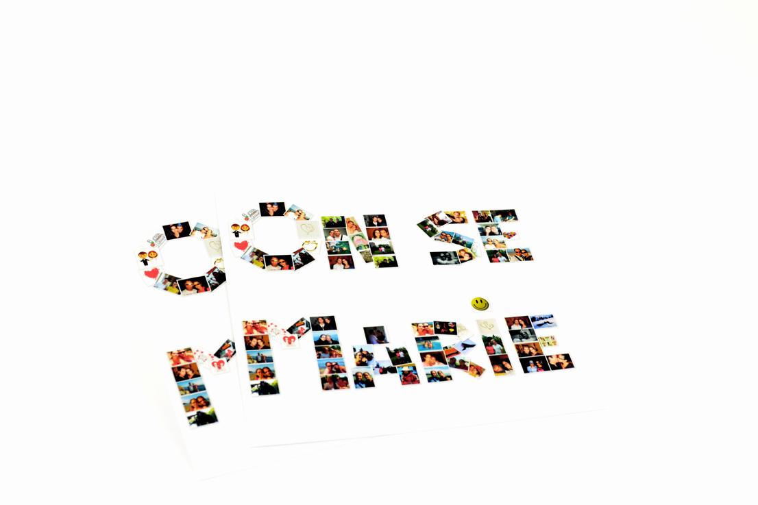 faire part mariage champêtre lettres photos personnalisé impression direct – imprimeur vendée 2