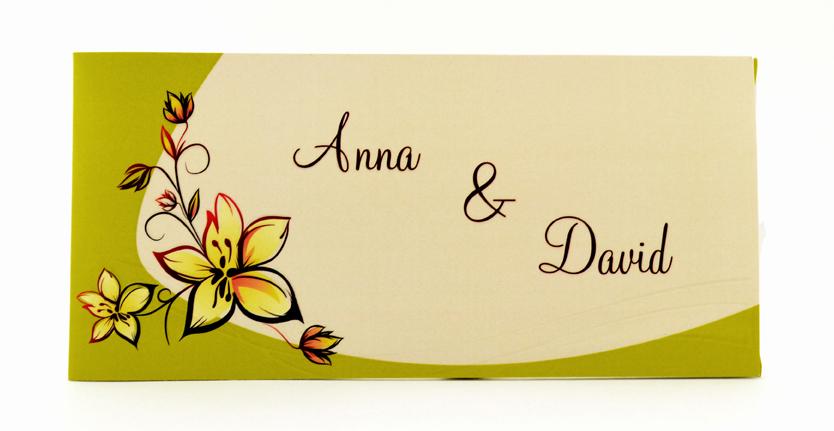 faire part mariage crème et vert personnalisé impression direct – imprimeur vendée 4