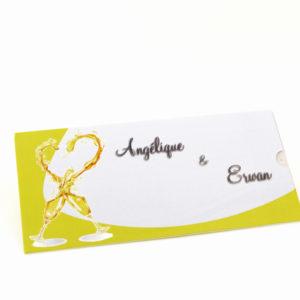 faire part mariage champêtre champagne personnalisé impression direct – imprimeur vendée