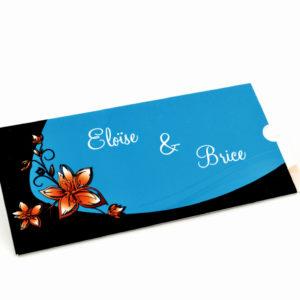 faire part mariage noir et bleu personnalisé impression direct – imprimeur vendée