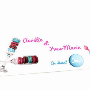 faire part mariage champêtre macaron personnalisé impression direct – imprimeur vendée