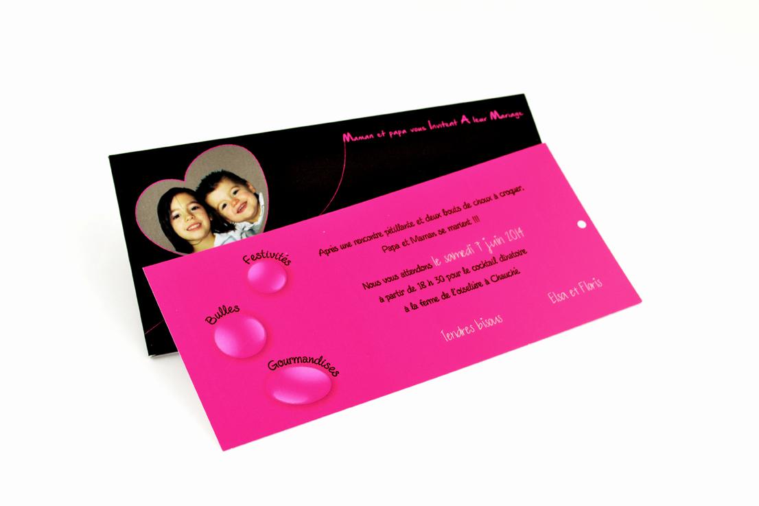 faire part mariage rose bulle personnalisé impression direct – imprimeur vendée
