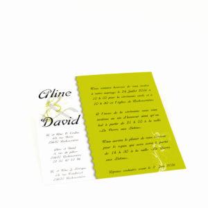 carte de mariage vert personnalisé impression direct – imprimeur vendée
