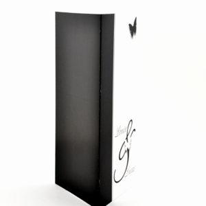 faire part mariage chic noir papillon personnalisé impression direct – imprimeur vendée 2