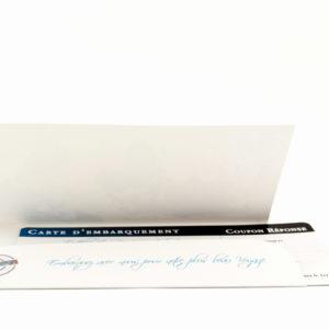faire part mariage ticket avion bleu personnalisé impression direct – imprimeur vendée 4