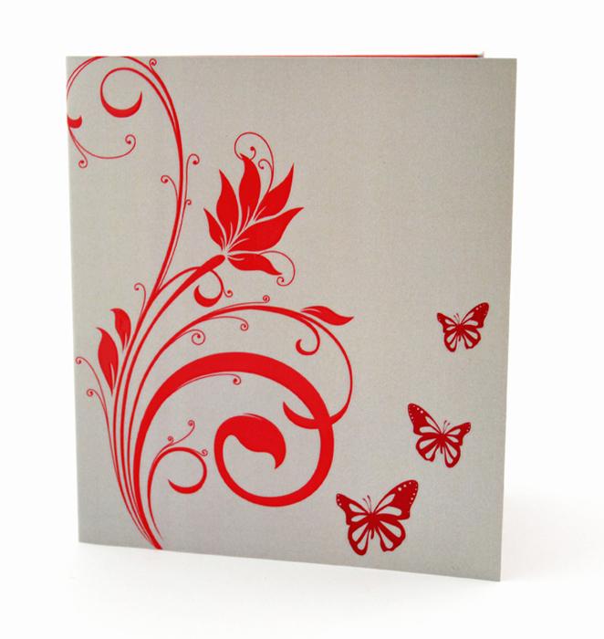 faire part mariage champêtre fleur rouge papillon personnalisé impression direct – imprimeur vendée 3