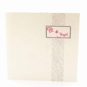 faire part mariage chic crème et rouge personnalisé impression direct – imprimeur vendée 2