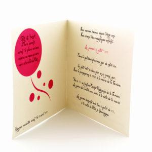 faire part mariage chic crème et rouge personnalisé impression direct – imprimeur vendée