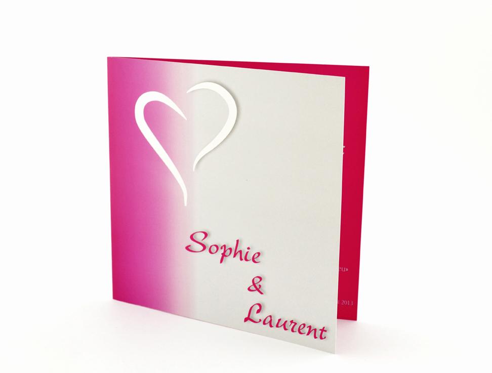 faire part mariage chic rose personnalisé impression direct – imprimeur vendée 2