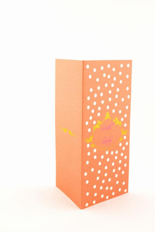 faire part mariage orange à pois personnalisé impression direct – imprimeur vendée