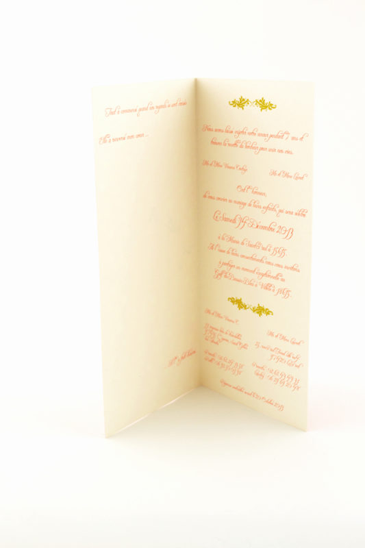 faire part mariage blanc et rouge personnalisé impression direct – imprimeur vendée