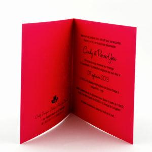 faire part mariage chic coeur rose et noir personnalisé impression direct – imprimeur vendée 2