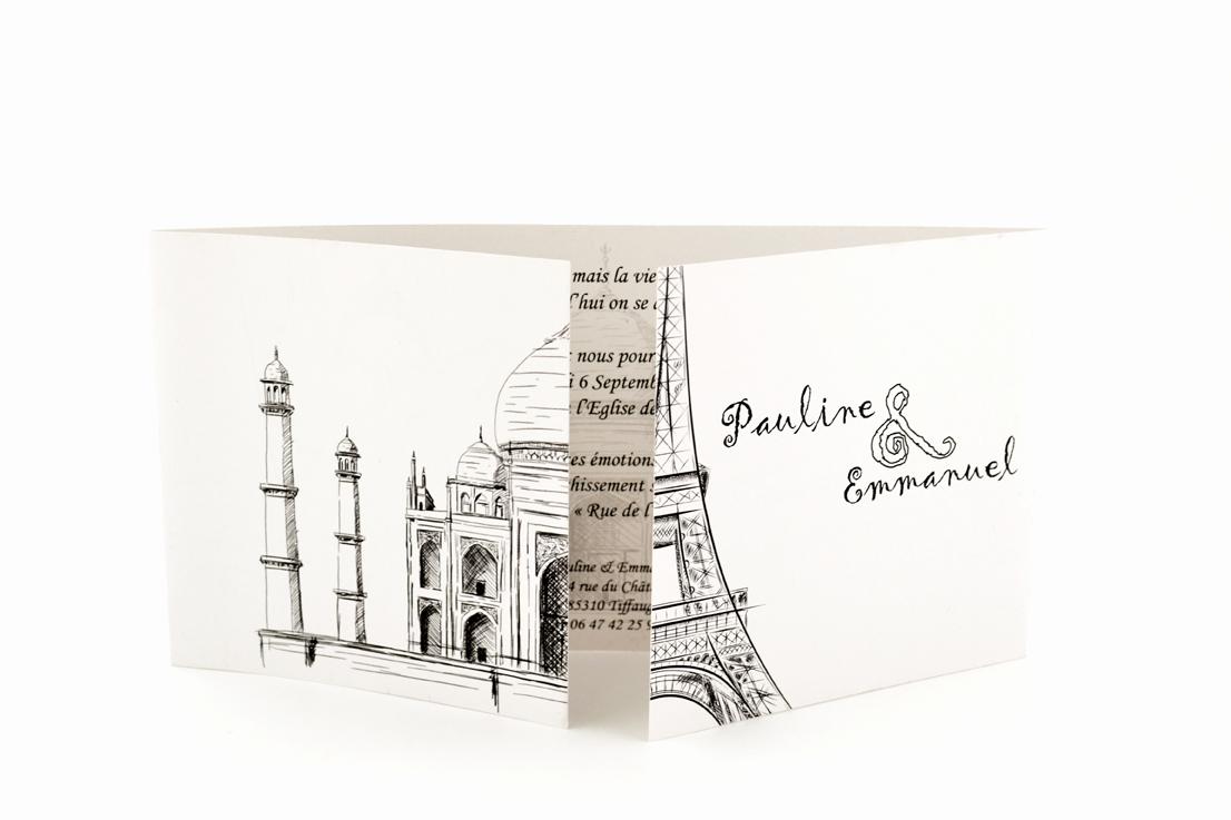 faire part mariage chic monuments personnalisé impression direct – imprimeur vendée 3