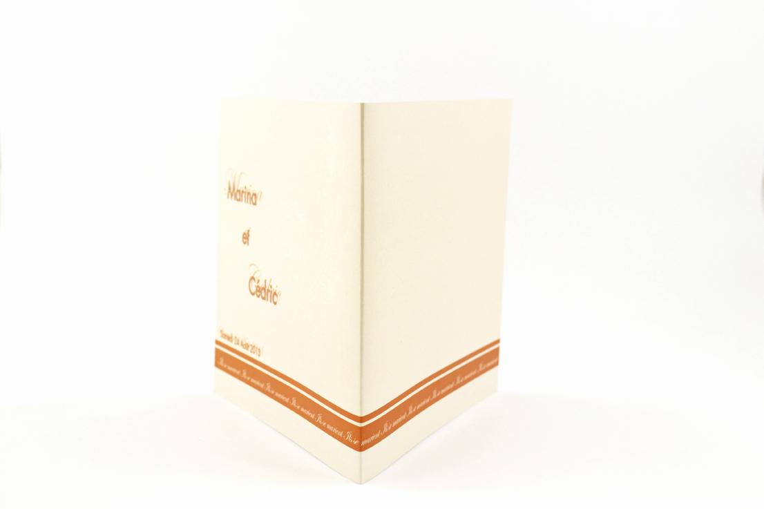 faire part mariage chic orange personnalisé impression direct – imprimeur vendée 2