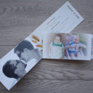 faire part mariage photo bébé personnalisé impression direct – imprimeur vendée
