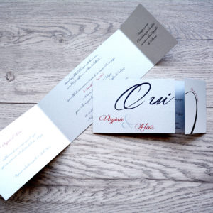 faire part mariage chic oui personnalisé impression direct – imprimeur vendée