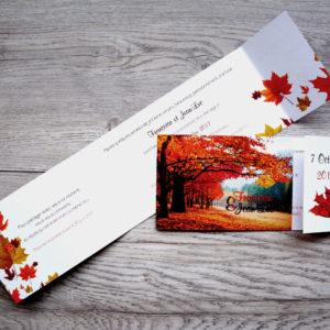 faire part mariage champêtre automne personnalisé impression direct – imprimeur vendée