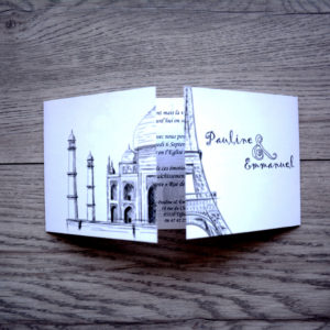 faire part mariage chic monuments personnalisé impression direct – imprimeur vendée 2