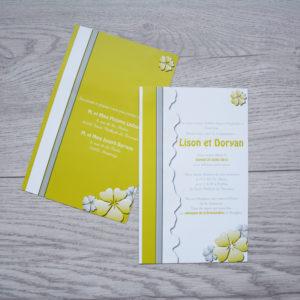 carte de mariage simple verte personnalisé impression direct – imprimeur vendée